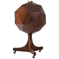 Ico & Luisia Parisi Attributed Polygon Bar Cabinet in Mahogany
