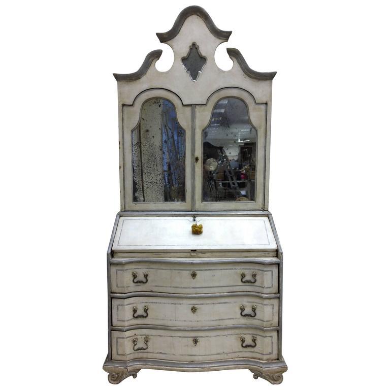 18th Century Italian painted Secretary bookcase