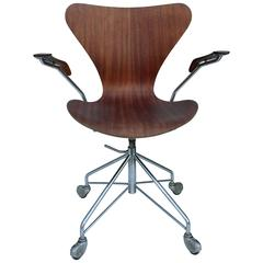 Early Arne Jacobsen Office Chair by Fritz Hansen, Denmark