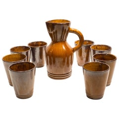 Pitcher with Eight Cups by Atelier Du Grand Chene