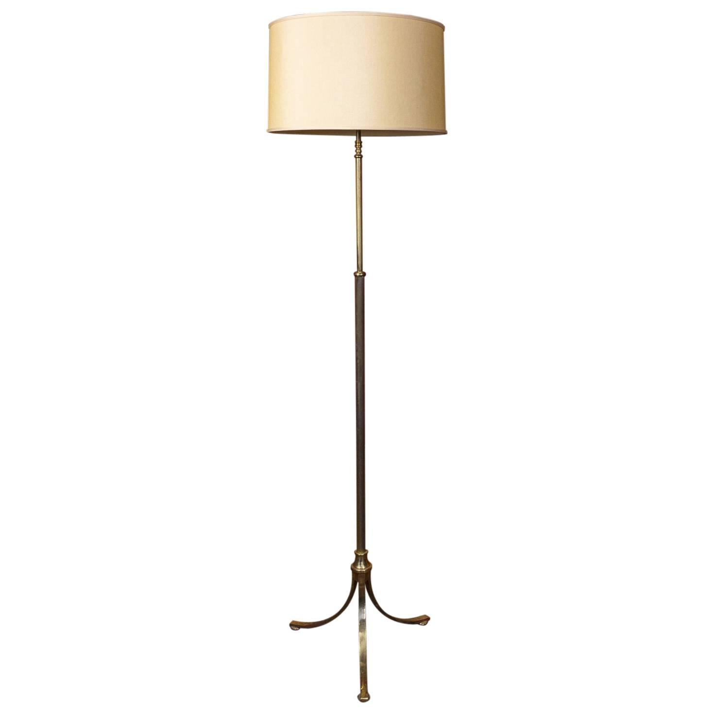 1940s french brass floor lamp at 1stdibs for Milan floor lamp antique brass 165cm