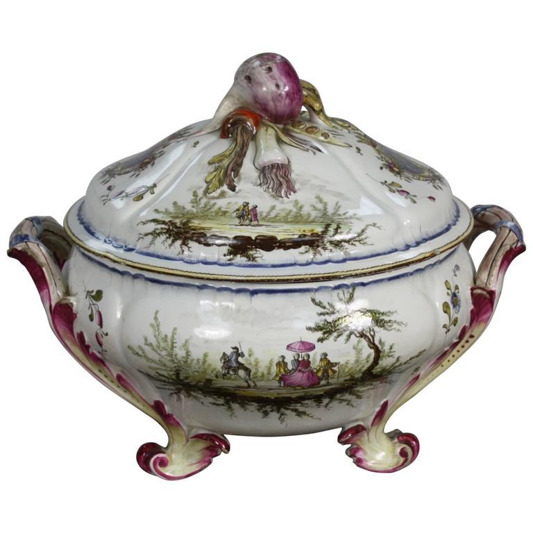 French Faience Jardiniere by Veuve Perrin For Sale