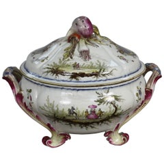 French Faience Jardinière by Veuve Perrin