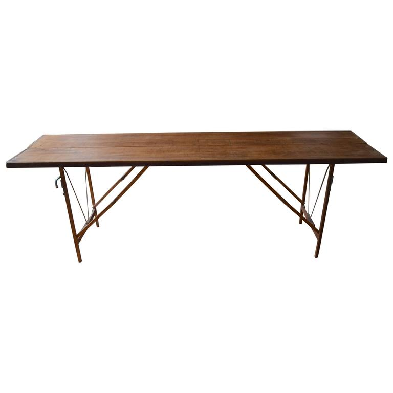 Used Wood Tables For Sale: Folding Wooden Table Used By Wallpaper At 1stdibs