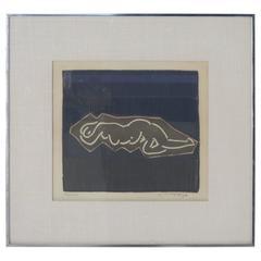 Original Paper Work of Art, Numbered, Signed and Framed