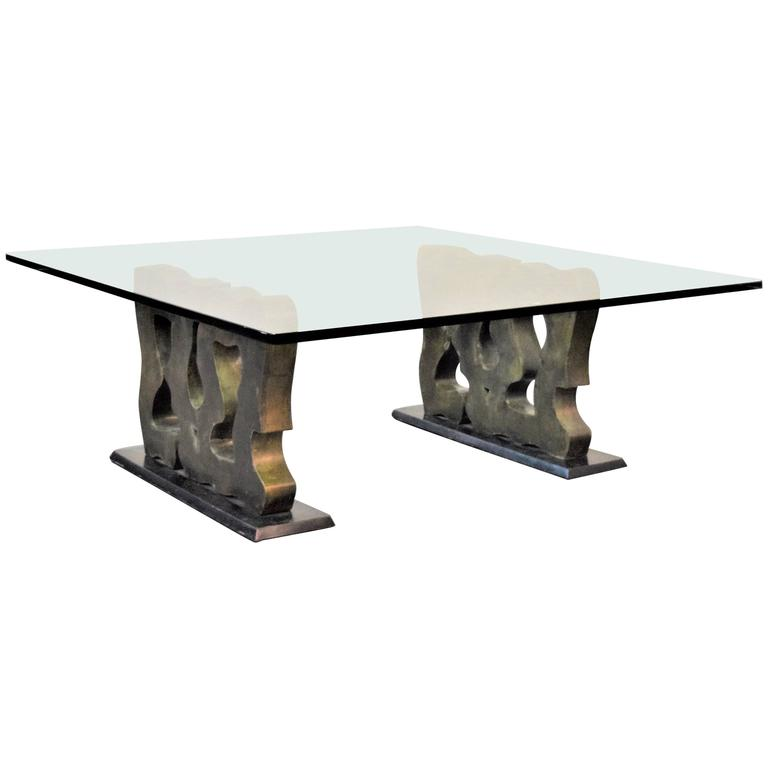 Unique Philip & Kelvin Laverne Abstract Coffee Table