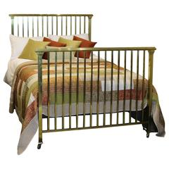 Double Art Deco Brass Bed, MD44
