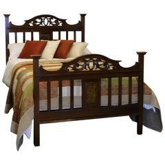 Arts and Crafts Style Mahogany Bed, WD12
