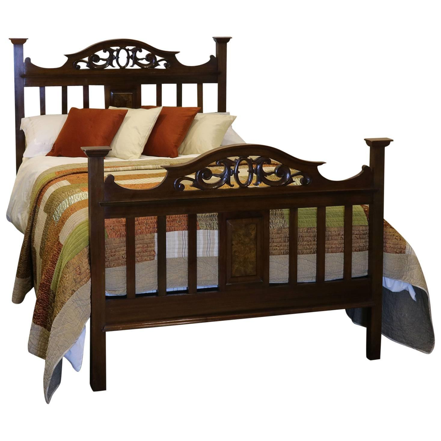 Arts and crafts style mahogany bed wd12 for sale at 1stdibs for Arts and crafts beds