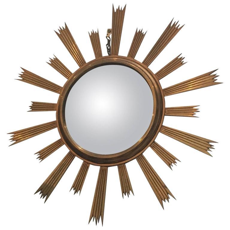 Gilt Bronze Sunburst Mirror