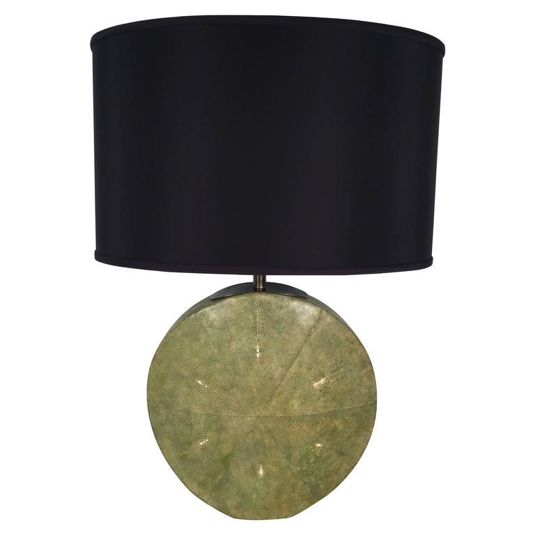 Art Deco Moon Flask Shagreen Table Lamp