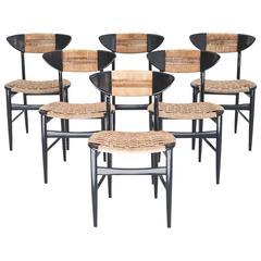 Set of Six Mid-Century Danish Chairs, 1950s