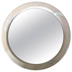 Karl Springer Style Goatskin Mirror