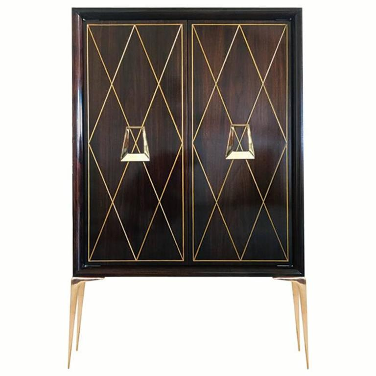 CF MODERN Custom Diamond Front Stiletto Bar Cabinet
