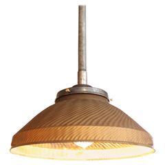 Gold Mercury Glass Pendant Hanging Ceiling Light, Lamp Vintage Industrial