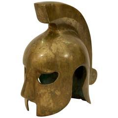 Decorative Vintage Brass Spartan Helmet