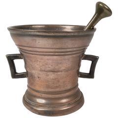 Early European Bronze Apothecary Mortar and Pestle