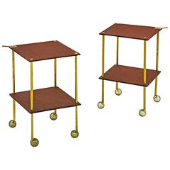 Pair of Caccia Dominioni Side Carts for Azucena, 1957