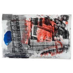 "Robert Rauschenberg Original Color Lithograph, ""Subtotal"""