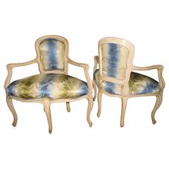 Pair of Louis XV Style Corner Chairs