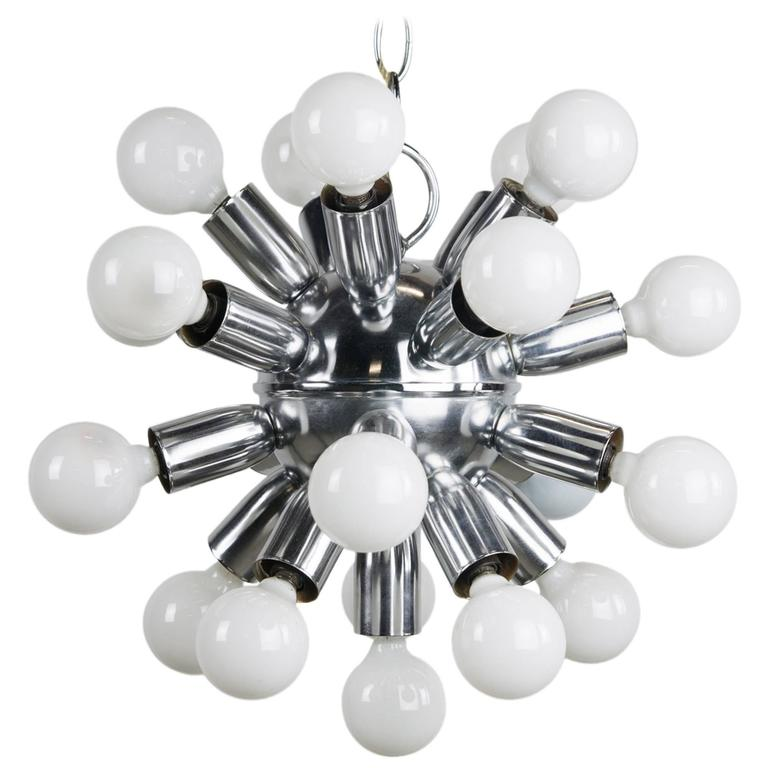 1970s Chrome Sputnik Chandelier For Sale