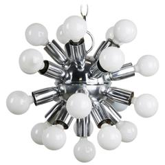 1970s Chrome Sputnik Chandelier