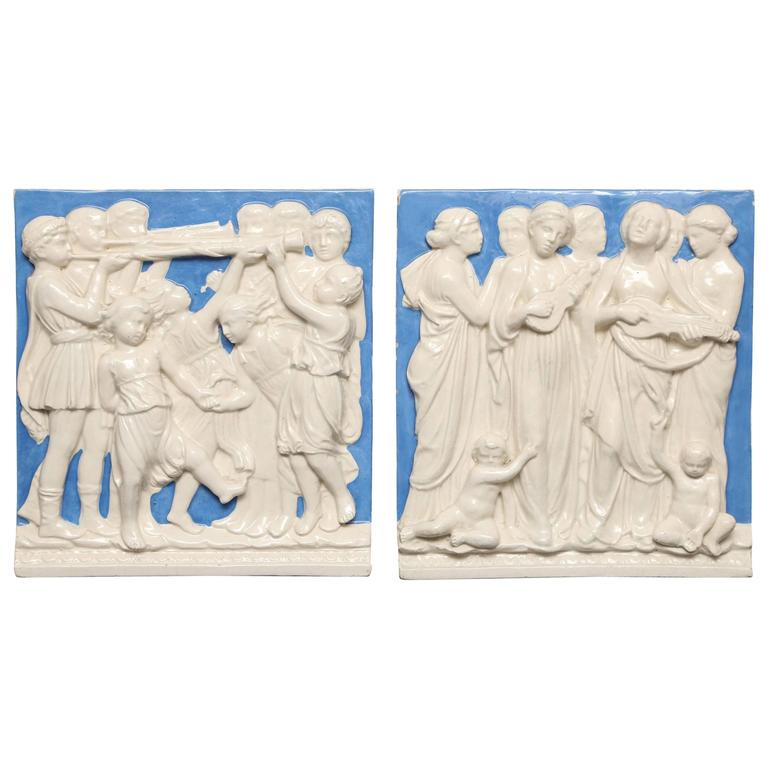 Pair of European Wall Plaques