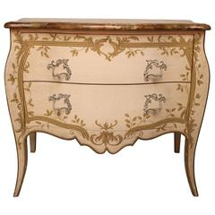Louis XV Style Painted Commode by Baker