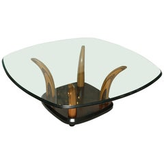 Tiger Wood Horn Cocktail Table