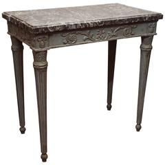 French Louis XVI Table with Marble Top
