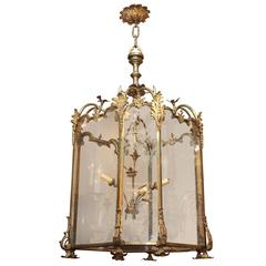 Large Bronze French Louis XV Style Lantern