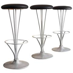 Set Of Five Art Deco Counter Stools Or Barstools Diner
