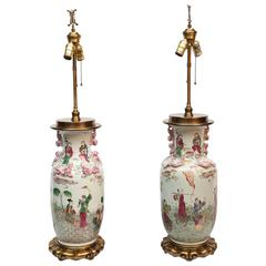 Pair of Fine Chinese Porcelain Lamps