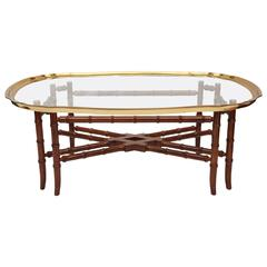 Superb Coffee Tray Table Attributed to Baker
