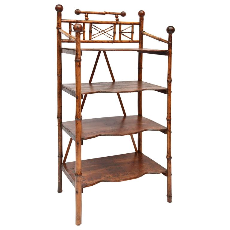 19th Century English Bamboo Book Stand 1
