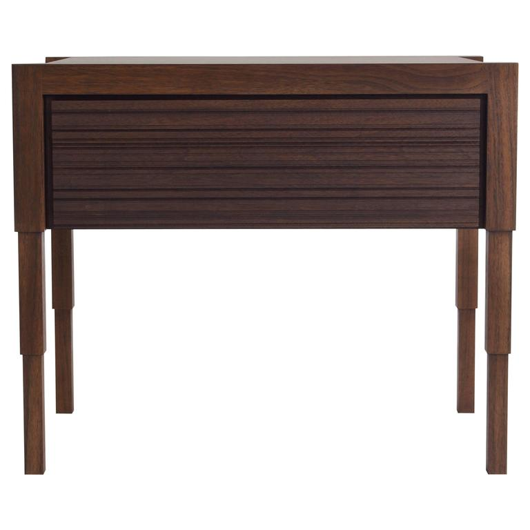 Chicago Case Side Table in Walnut by May Furniture For Sale