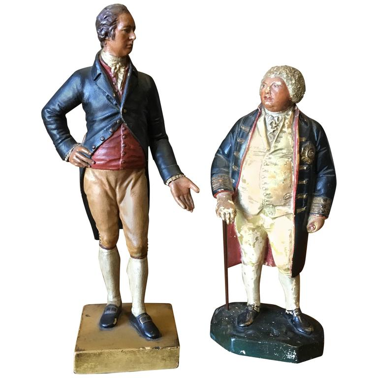 Two 19th Century Chalkware Figures For Sale