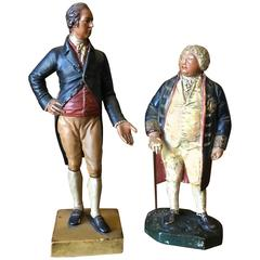 Two 19th Century Chalkware Figures