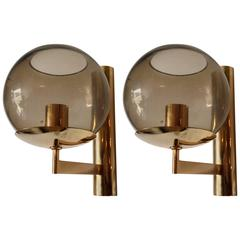 Pair of 1970s Sciolari Italian Wall Lights