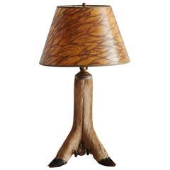 Whitetail Deer Hoof Taxidermy Table Lamp, circa 1940s