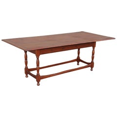 Monumental 19th Century Harvest Table from New England