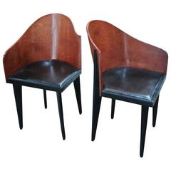 Pair of Asymmetrical Saporiti Chairs