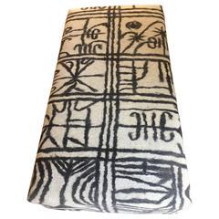 Ottoman Covered by Handmade Felt Rug