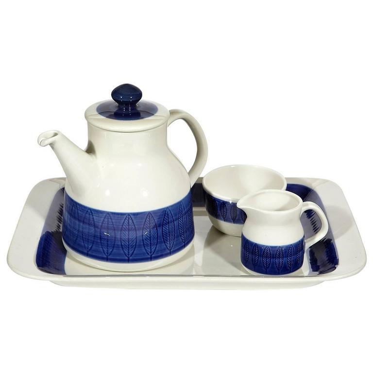 """Rörstand """"Koka"""" Sweden Tea Set by Hertha Bengtson, 1950s For Sale"""