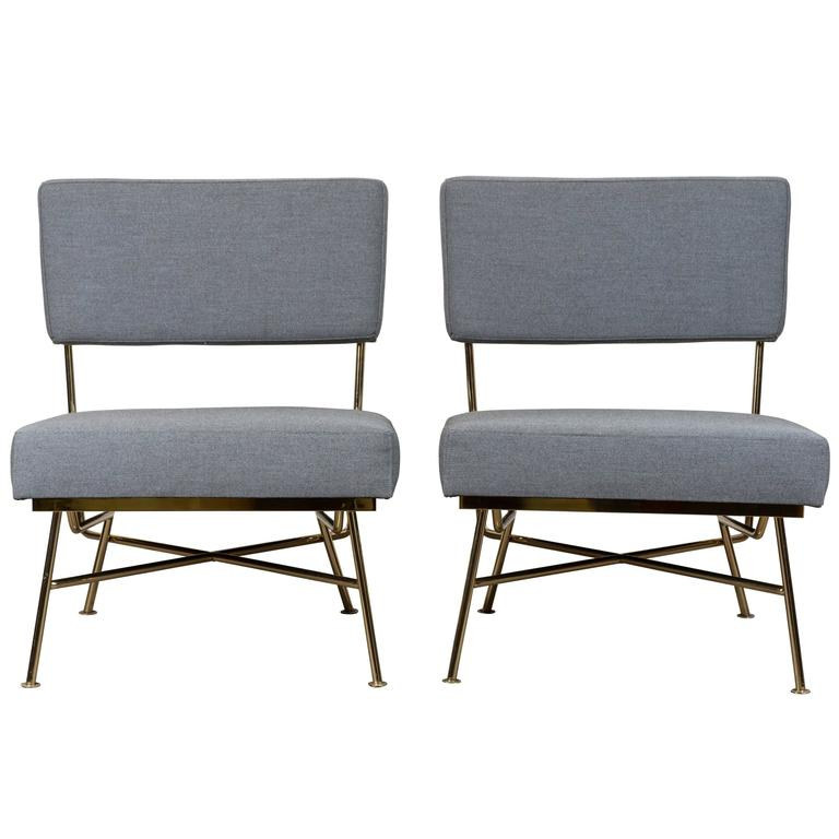 Pair of Montrose Chairs by Lawson-Fenning For Sale
