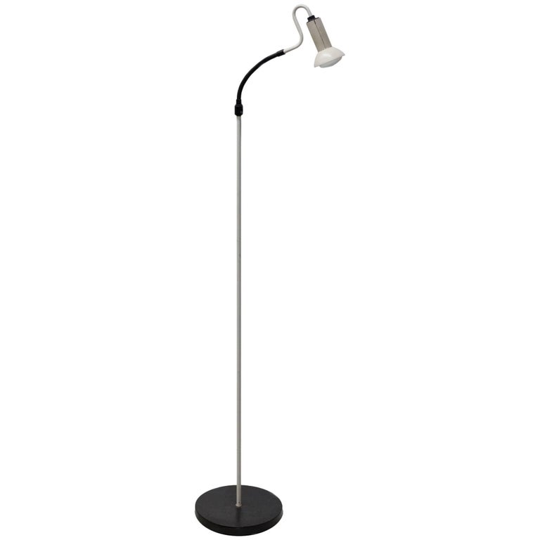 White Ron Rezek Adjustable Floor Lamp