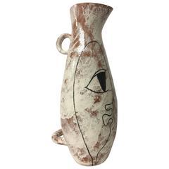 Lagardo Tackett Kenji Fujita Pottery Hand Painted Abstract Double Handled Vessel