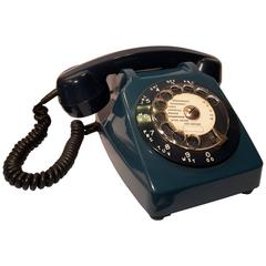 Telephone in Blue Bakelite from the 1970s