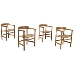 Set of Four Armchairs by Hans J. Wegner