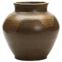 Poole Pottery Substantial Lava Glazed Pottery Vase, circa 1970